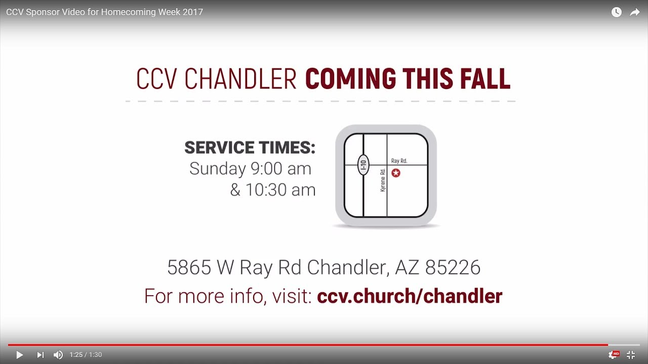 CCV Sponsor Video for Homecoming Week 2017 - YouTube