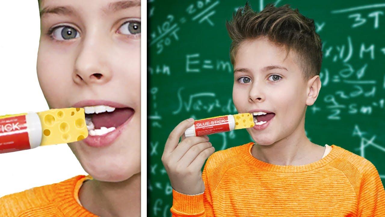 Новенькая ест на УРОКЕ? Как пронести сладости в класс * 3 часть *
