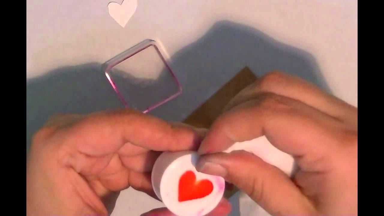 Cómo hacer tus propios sellos para estampar. - YouTube