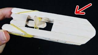 전기없이 움직이는 신기한 모터보트를 만들어보았다!! How To Make an Rubber Band Boat : 비썹Bssup