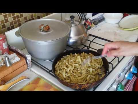 Стручковая фасоль в беконе