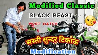 Modified Royal Enfield | सस्ती सुन्दर टिकाऊ Modification | Classic 350 Modification | Black Beast