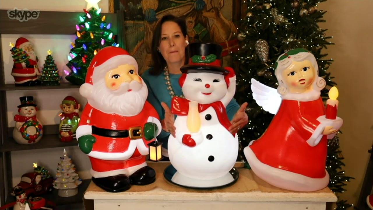 Mr Christmas Nostalgic Holiday Figure Blow Mold On Qvc Youtube