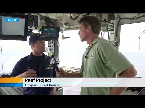 Dropping artificial reefs off the coast of Mayport