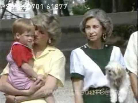 Princess Diana in Majorca, Spain