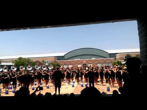 Cedar Park High School Timberwolve Marching Band 2013 Courtyard Performance (March-a-thon 8/17/13)