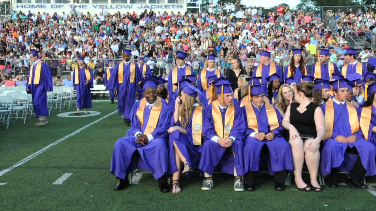2015 Denham Springs High School graduation #2 - YouTube