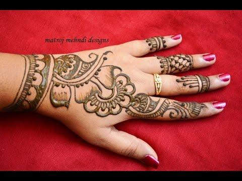 Mehndi Henna Designs : Stylish simple mehndi henna designs for hands beginners:mehndi