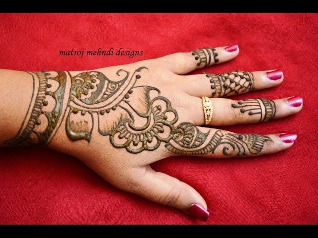 Stylish Simple Mehndi Henna Designs For Hands For Beginners Mehndi