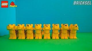Равняйсь! Смирно! Армия Тигров. LEGO DUPLO. Лего дупло животные - тигр, тигрица