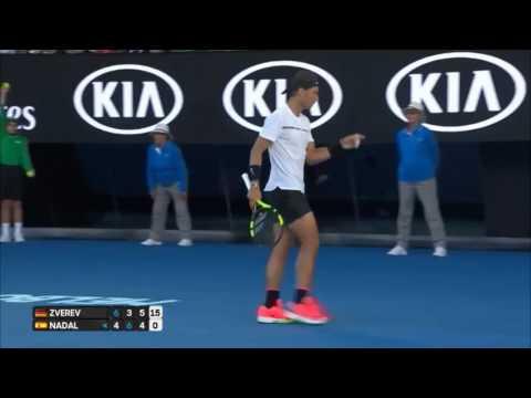 Nadal v Zverev - AO2017 -R3 Highlights