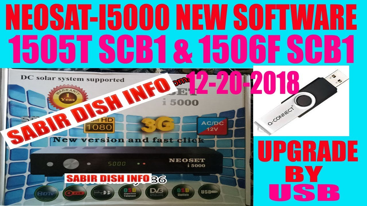 NEOSAT-I5000 NEW SOFTWARE 1506T & 1506F 4MB NEW SOFTWARE 12-20-2018 BY  SABIR ALI