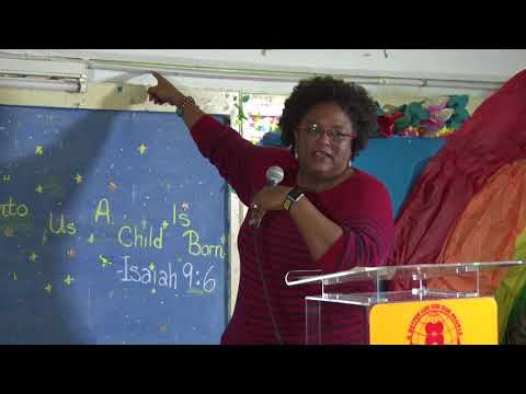 Mia Amor Mottley, Q.C., MP for St. Michael North East at BLP Northern St. Michael Meeting