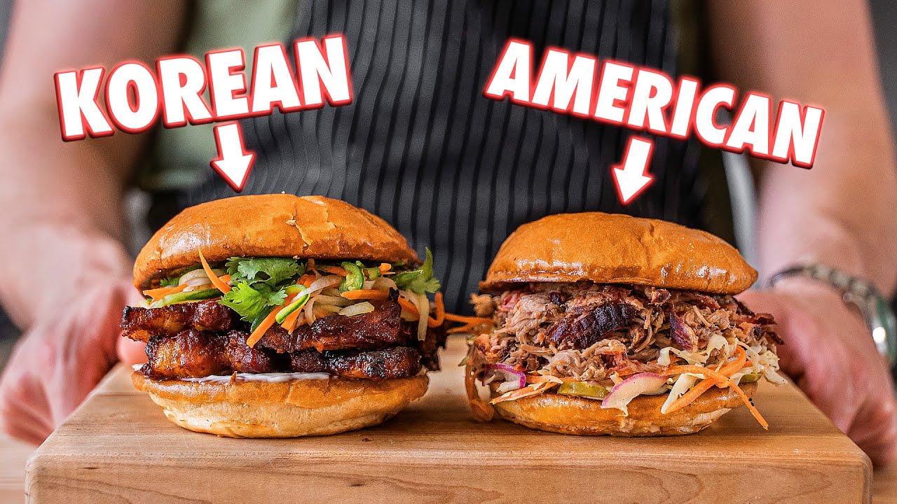 BBQ Pork Sandwiches (American vs Korean)