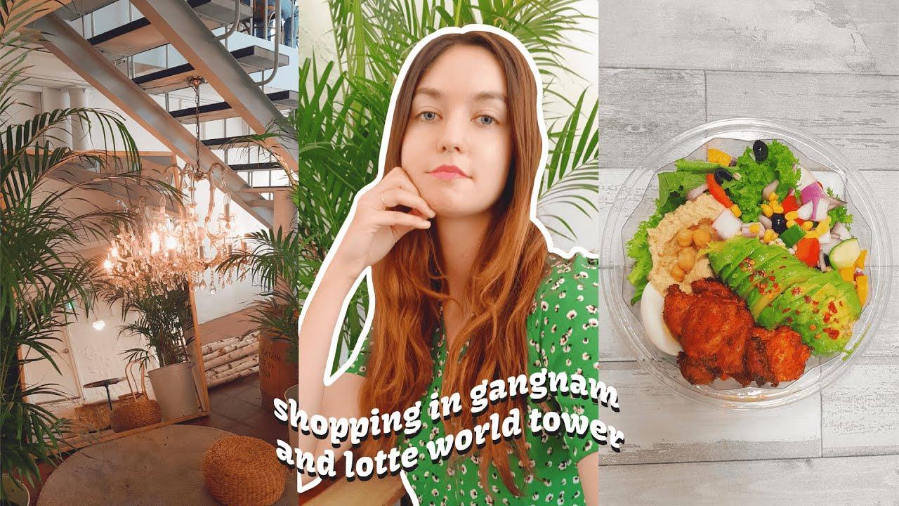 Shopping in Gangnam and Lotte World Tower 💳 🛍 Zara, H&M... | Life in Korea Vlog
