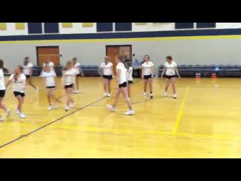 Tri West Middle School 7th and 8th grade cheerleaders