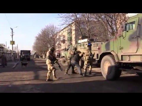 Зачистка путинистов в Красногоровке Донецкой области, Украина
