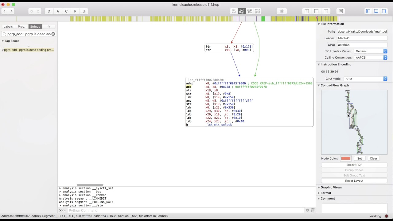 How to find allproc offset with Hopper Disassembler 4