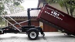 Hook-N-Haul 20 yard Dumpster Rental Delivery Austin Texas