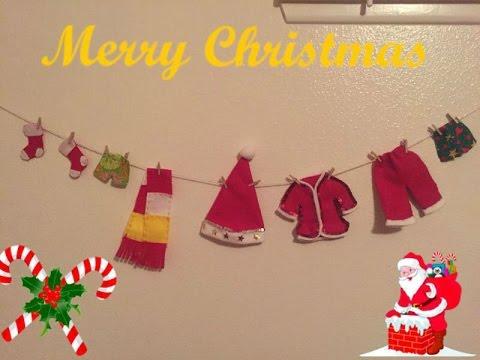 Diy manualidades para navidad tendederos de ropa de santa claus youtube - Sobre de navidad para imprimir ...