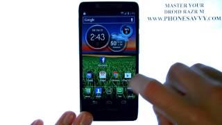 Motorola-Droid Razr M - HowTo-Erstellen Von Ordnern - Hinzufügen Von Bildschirmen Zu Hause - Bewegen Apps - Anpassen.AVI