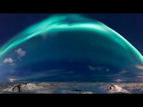 Blue Auroras Appear after a New Geomagnetic Storm