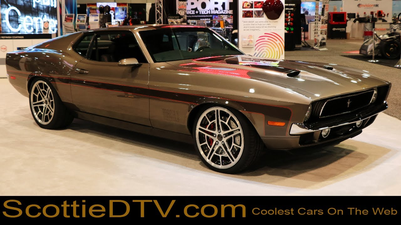 "2018 Mustang Mach 1 >> 1971 Ford Mustang ""71 Mach Foose Mustang"" Foose Design The SEMA Show 2017 - YouTube"