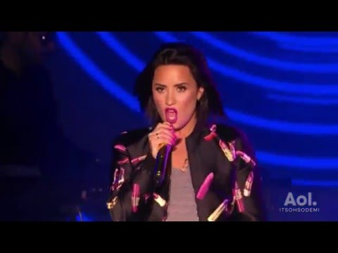 Demi Lovato LIVE at AOL Access in New York  (FULL HD)