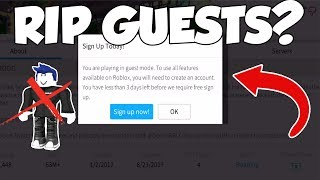 (PROOF) ROBLOX GUESTS MIGHT BE REMOVED (TURNED OUT TO BE TRUE)