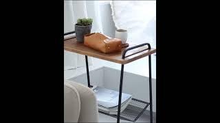 높은 사이드 테이블 레트로 옛날 책상 쇼파 협탁 철제