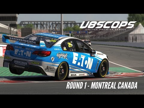 iRacing: V8SCOPS Round 1- Top Split (V8 Supercar @ Montreal)
