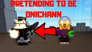 PRETENDING TO BE A 0NICHANN IN ROBLOX PARKOUR!!!