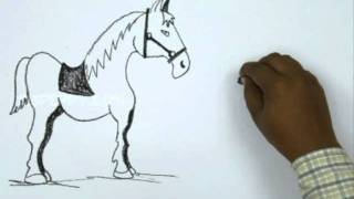 How to Draw a Soldier and Horse