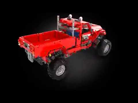 lego technic 42029 customized pick up truck animation. Black Bedroom Furniture Sets. Home Design Ideas
