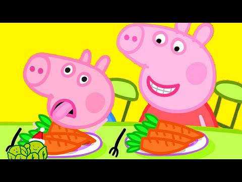 Kids TV and Stories | Vegetables for George | Peppa Pig Full Episodes