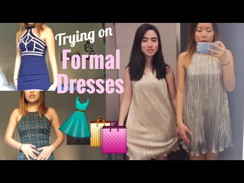 Formal dress shopping 2017 👗 Trying on dresses for school dance