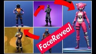 Fortnite Battle Royale | 5 Masked Skins Face Reveal | Cool!!
