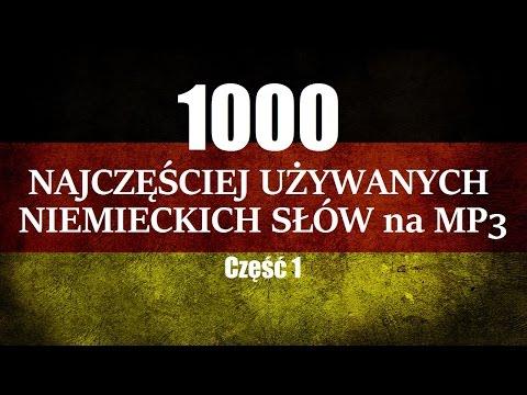 NIEMIECKIE SŁÓWKA MP3 - Szybka Nauka 1000 niemieckich słów (Niemieckie Słownictwo MP3)