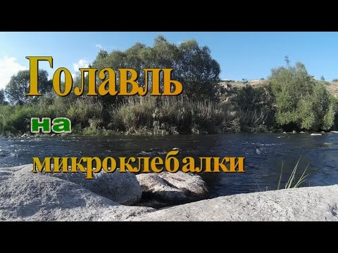 Ловля голавля на микроколебалки - YouTube
