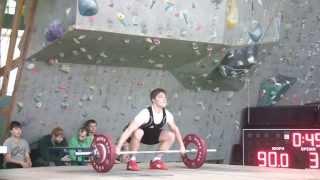 Штанько Семён, 15 лет, вк 69 Рывок 90 кг