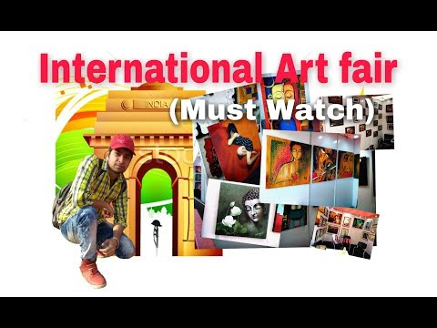 International Art Fair in lalit kala acedmy __delhi India gate