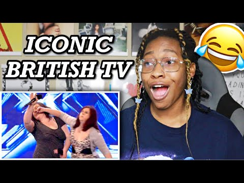 AMERICAN REACTS TO MOST ICONIC BRITISH TV MOMENTS #6 🤣 | Favour