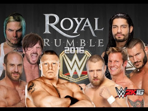 WWE 2K16 Royal Rumble 2016 : Highlights, Jeff Hardy Returns & AJ Styles Debut