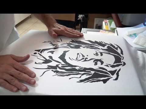 Bob Marley- Vinyl Heat Pressed T-SHIRT Design – Cricut Air 2