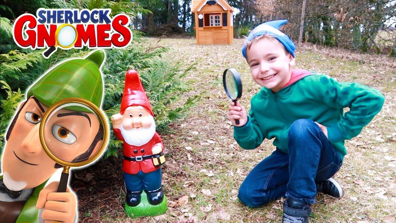 CHASSE AUX NAINS DE JARDIN ! - Swan se prend pour Sherlock Gnomes et ...