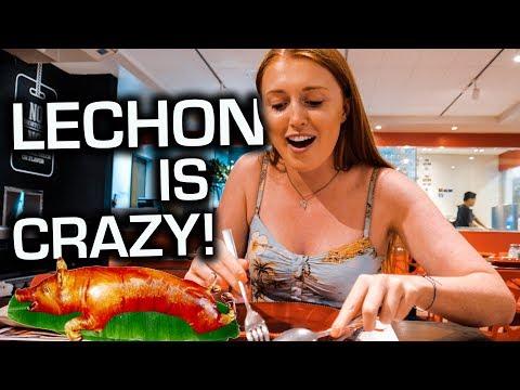Filipino LECHON! British Couple FIRST TIME Reaction!