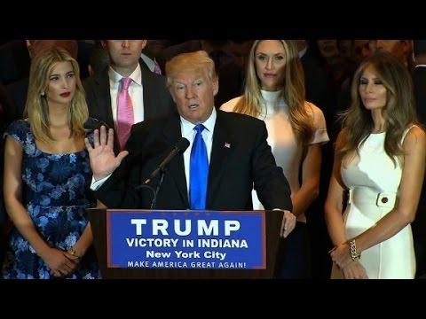 Donald Trump's Indiana victory speech (entire speech)