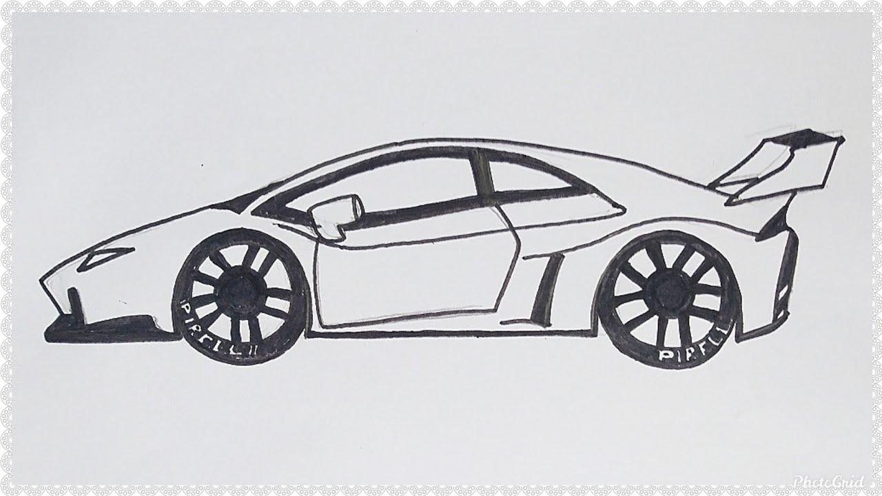 Cara Mudah Menggambar Mobil Lamborghini Aventador Tutorial Indonesia Youtube