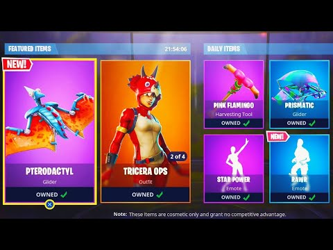 "NEW ""RAWR"" EMOTE + ""PTERODACTYL"" GLIDER GAMEPLAY in Fortnite Battle Royale! (Fortnite Live)"