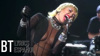 Miley Cyrus - Heart Of Glass (Live from the iHeart Festival) (Lyrics + Español) Video Official